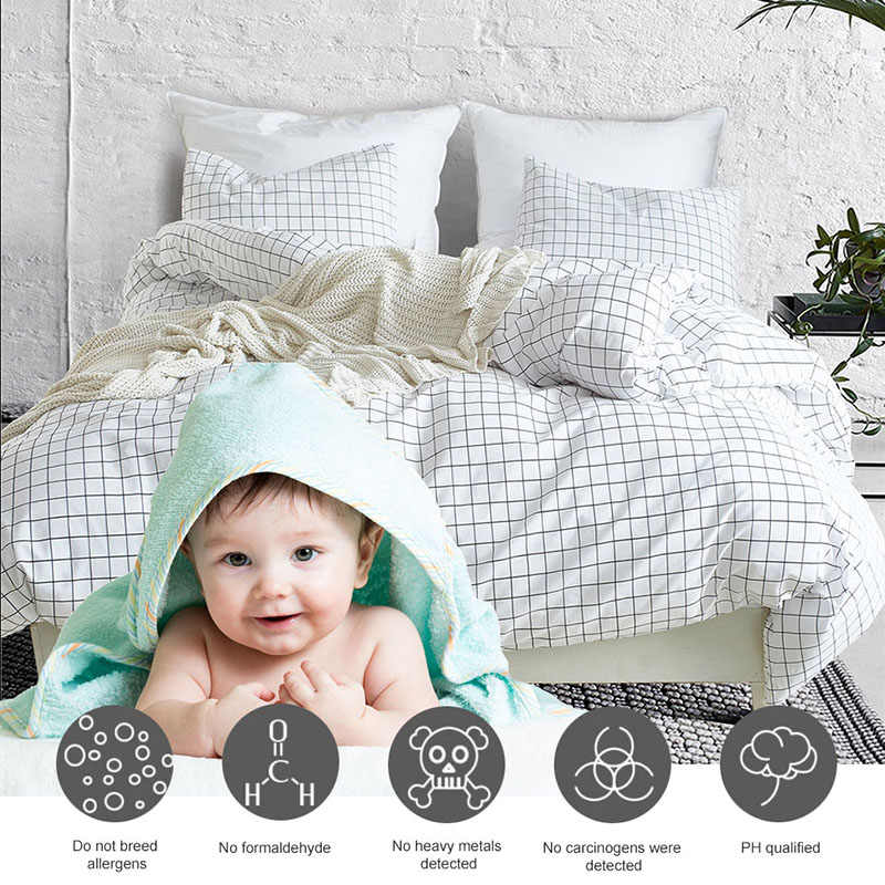Nordic Little Lattice Bedding Set Bedding Linens Simple Fashion White Adults Bed Duvet Cover Sets for Home Textile US UK Size