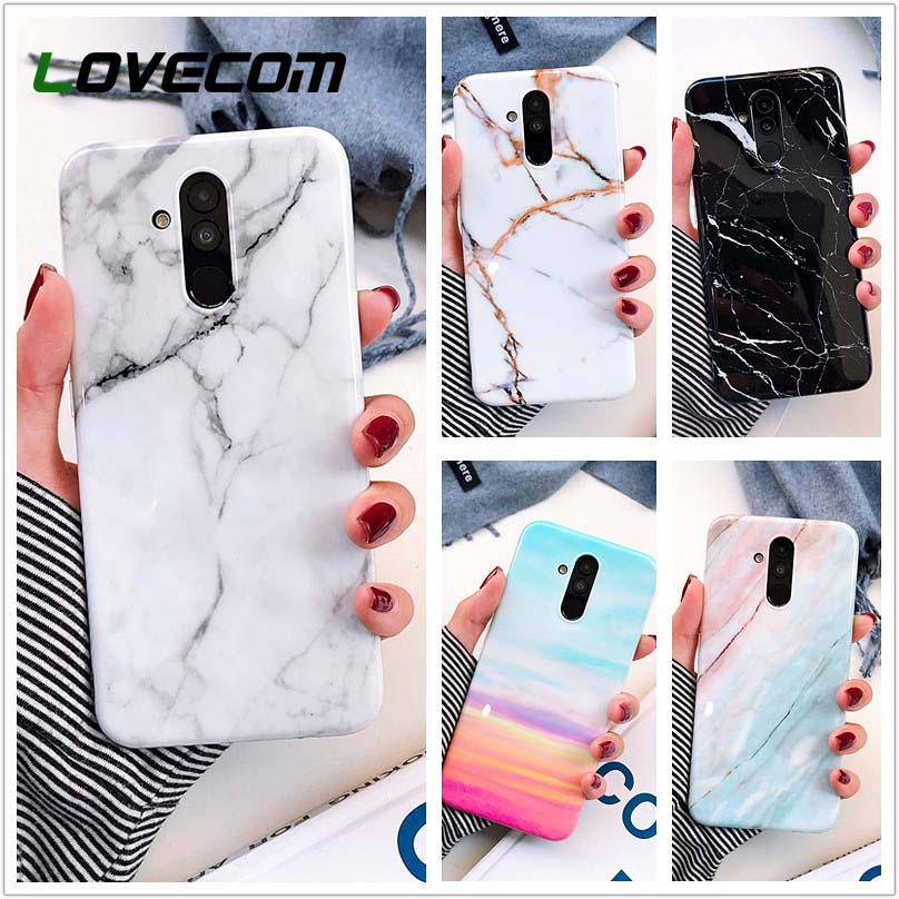 LOVECOM Smooth Marble Phone Case For <font><b>Huawei</b></font> P30 <font><b>Lite</b></font> P30 Pro P20 Pro <font><b>Mate</b></font> <font><b>20</b></font> Nova 4e 3e 3i Soft IMD Anti-Fall Protector Cover image
