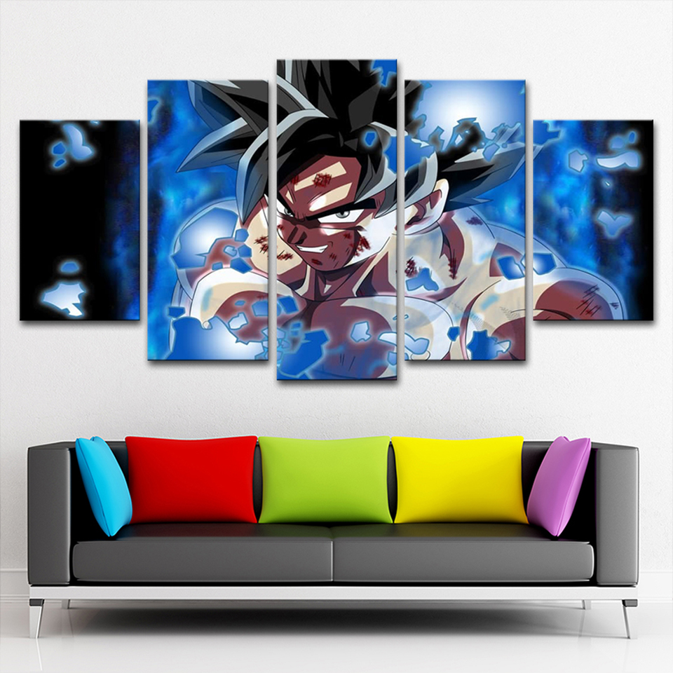 Living Room HD Printed Painting Modern Wall Art Pictures 5 ...