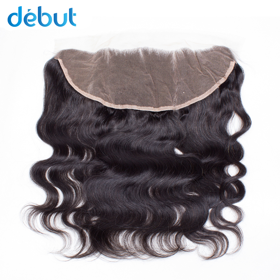 Debut  Remy Brazilian Human Hair Cheap Price 13x4 Lace Frontal Body Wave Natural Color Free Part Human Hair Closure