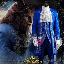 Красота и чудовище Принцесса Белль князь Адам взрослых Косплэй костюм фильм Хеллоуин костюм для Для мужчин и Для женщин