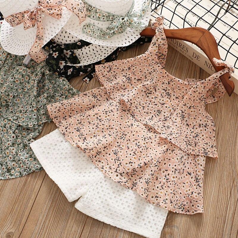 aac49de1c 2019 conjunto de ropa de moda de verano para niñas y bebés niñas niños  princesa trajes al por ...