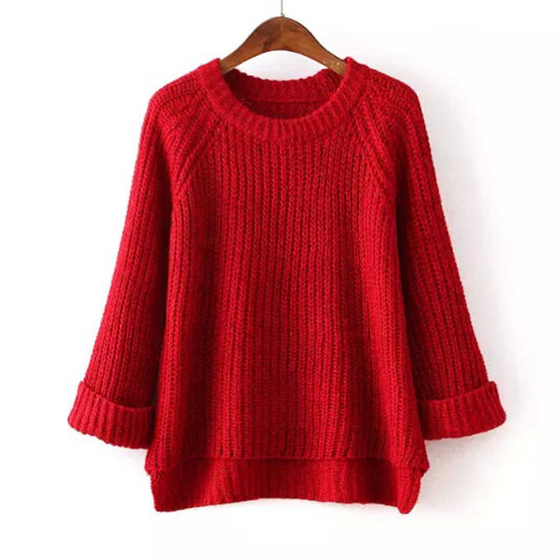 Danjeaner 2018 Autumn Winter Women Knitted Sweaters Fashion Solid Slim Fit Warm Thick Pullovers Pull Femme Jumper