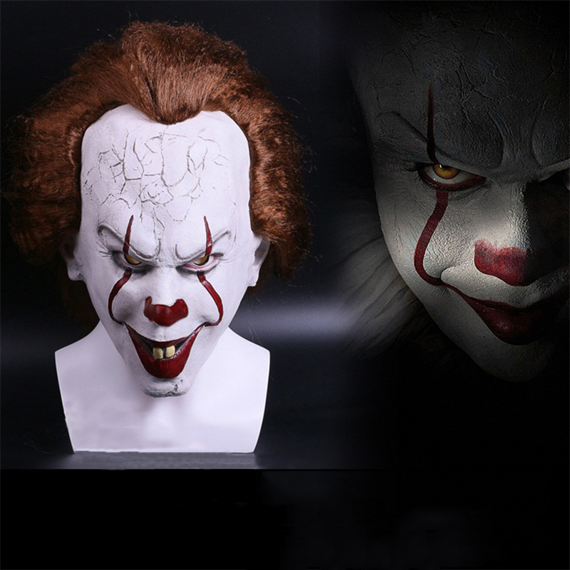 Joker Pennywise Mask Halloween Party Horrible Masks 2017 Movie Stephen King's It Mask Horror Clown Latex Mask Cosplay
