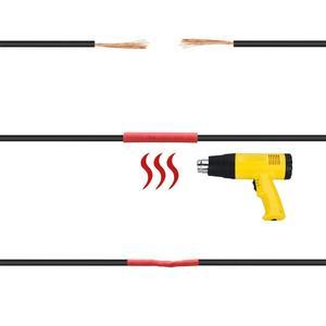 Image 4 - Shrinking 328 pces isolamento sleeving embalagem térmica kits de tubo de cabo elétrico do carro tubo de psiquiatra de calor envoltório da tubulação manga sortidas