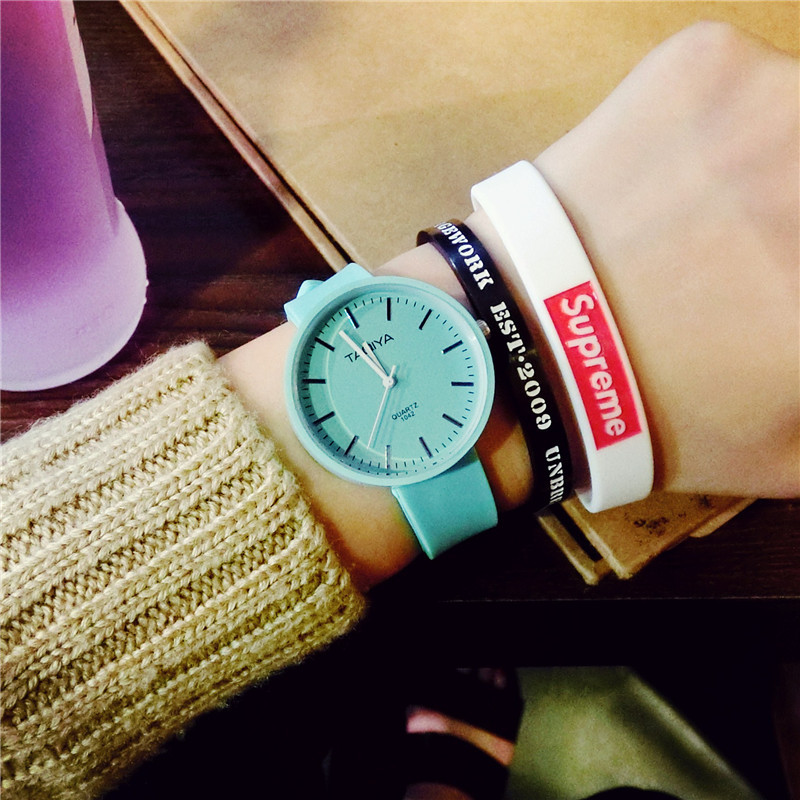 Mint Green Jelly Color Women Watches Fashion Casual Ladies Silicone Wristwatches Simple Female Quartz Clock Dames Horloges