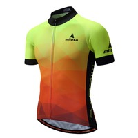 Pockets Man Cycling Jerseys Miloto Fluorescent Penink MTB Sportswear Top Bicycle Jersey Mens Bike Shirts High