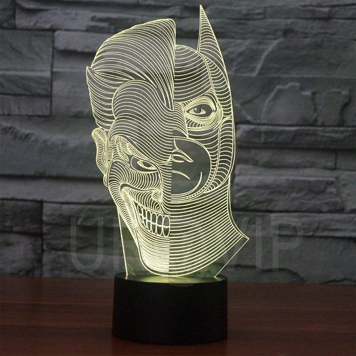 JC-2835  Amazing 3D Illusion led Table  Lamp Night Light with double face shape   (4)
