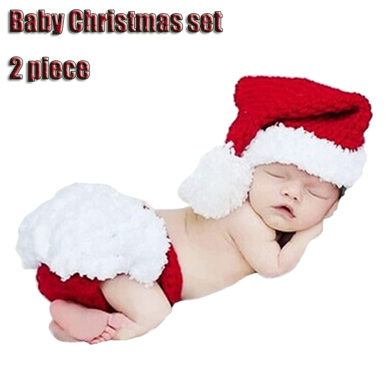 Bebé Navidad 2 unids recién nacido fotografía props Navidad Santa ...