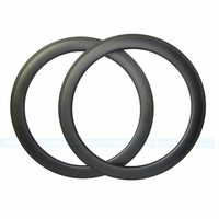 7 TIGER Full carbon fiber rims 60mm tubular rim U shape Carbon Road bicycle wheels Rims ud matte