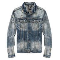 Autumn Winter Newly Men S Jackets Nostalgia Retro Superably Brand Denim Jacket Men Coat Size S