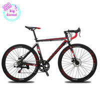 Cyrusher Road Bike 700C 52cm Aluminum Alloy Frame Cycling Disc Drake 14 Speed Racing Shimano