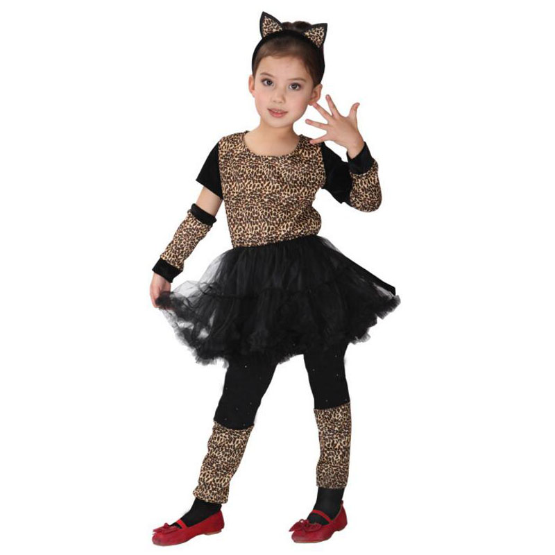 016ffd458ca6 Girls Kids Leopard Cosplay Costume Anime Masquerade Fantasia Christmas Gift Animal  Costumes Leopard Children Fancy dress-in Girls Costumes from Novelty ...
