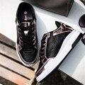 Открытый Женщины полуботинки повседневные Кожаные Плоские джокер моды Дышащий размер 35-40 zapatos mujer chaussure homme Черный Белый