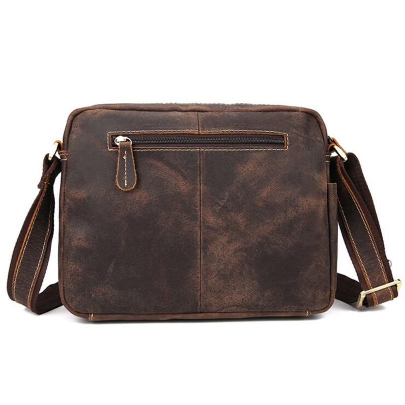 NEWEEKEND 98601-1 kulit asli vintaj gila kuda sedikit lembut zip - Beg tangan - Foto 3