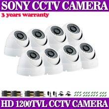 1200TVL Sony Effio-E 1/3″CCD 960H Mini indoor outdoor Dome IR CCTV Camera 3.6mm Wide Angle
