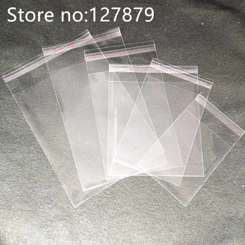 6 sizes Clear Self-adhesive Cello Cellophane Bag Self Sealing Plastic Bags Candy Packing Resealable Cookie Packaging Bag Pouch