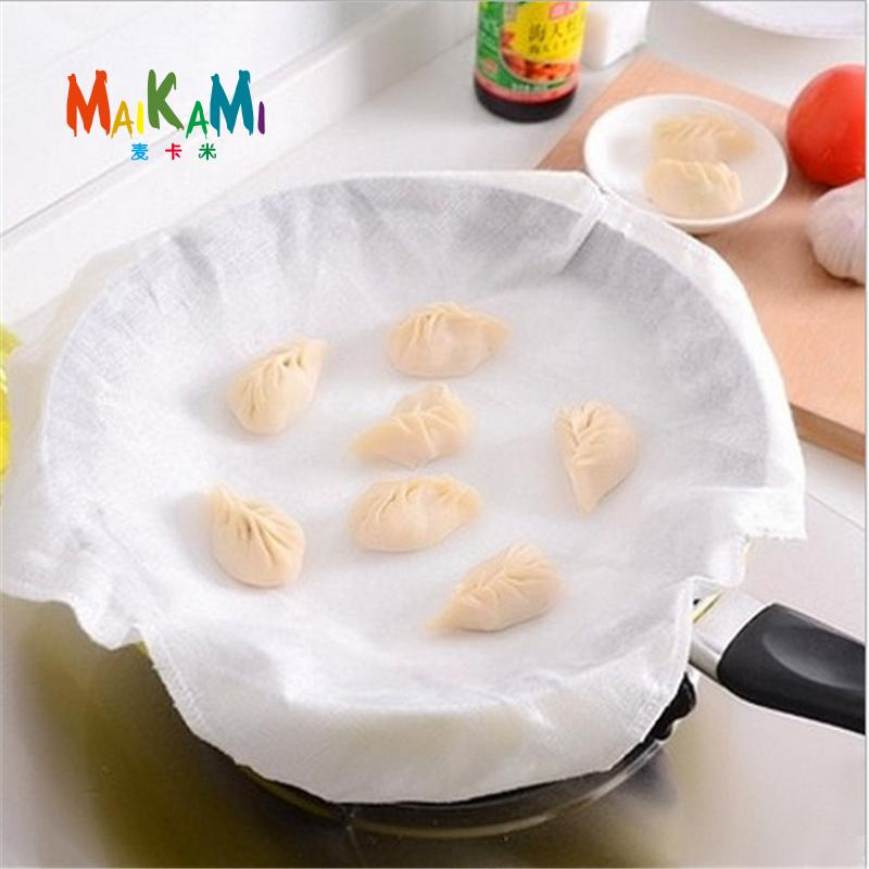 1pcs Cotton Fabric Steamer Cloth Steamed Stuffed Bun Gauze Kitchen Supplies Dumpling/Pastry Cooking Tools Non-Stick