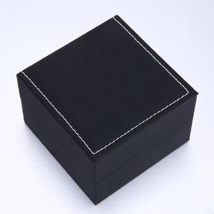 Wholesale Black Watch Storage Box Square Soft Watch Box Fashion Watch Organizer And Packing Gift Box B005