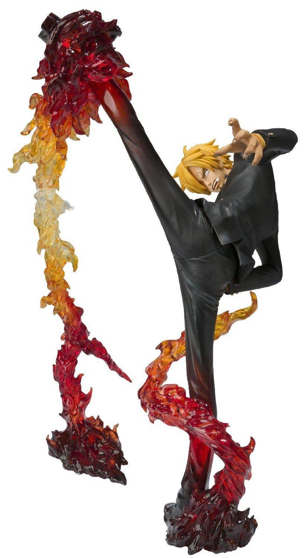 "Japan Anime Bandai Tamashii En Piece Sanji Diable Jambe Flambage Shot 6.7 ""Åtgärd Figur Leksaker Lös"