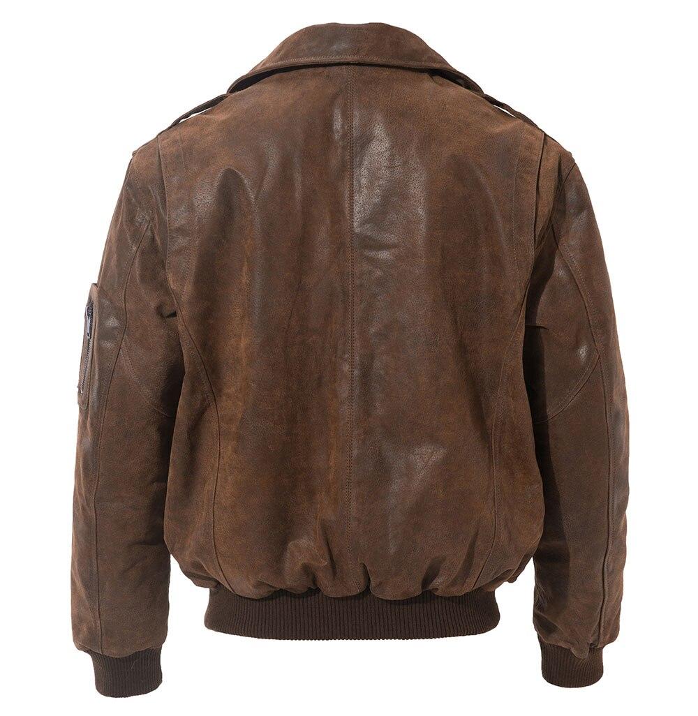 HTB1twjUVzDpK1RjSZFrq6y78VXaR FLAVOR Men's Genuine Leather Bomber Jacket Men Warm Real Pigskin Air Force Leather Jacket Removable Fur Collar Aviator Coat