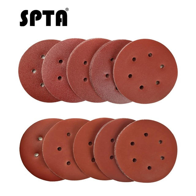 Набор шлифовальных дисков SPTA, 6 дюймов, Зернистость 40 # 100 #, 2000 шт.