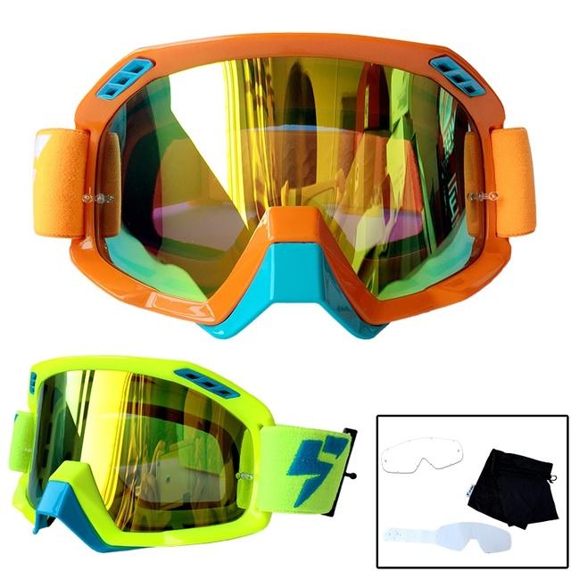 100% Brandnew Velocidade Lobo LY-100 Profissional Motocross MX Goggles Motocicleta Óculos de proteção Óculos de Moto Óculos 3 pcs livre Lágrima offs