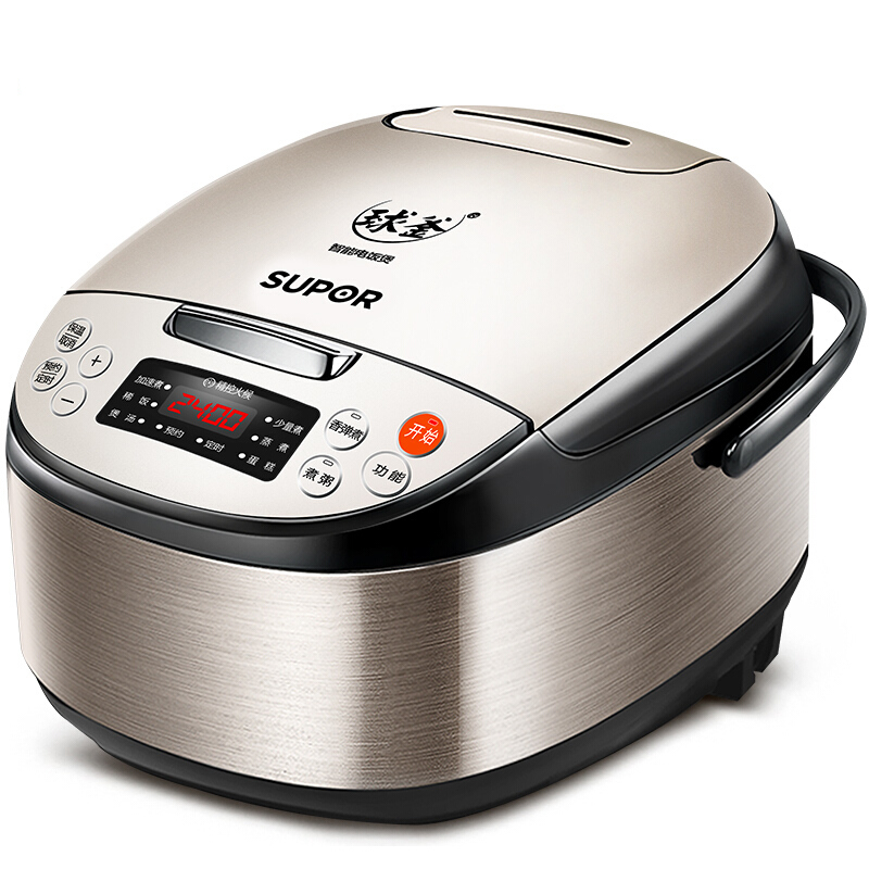 Electric cooker 4L capacity ball cooker inner gallbladder drawing stainless steel fuselage rice cooker electric soup containerElectric cooker 4L capacity ball cooker inner gallbladder drawing stainless steel fuselage rice cooker electric soup container