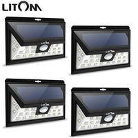 LITOM 24 LED Solar Light IP65 Waterproof Wide Angle Security Motion Sensor Light With 3 Modes