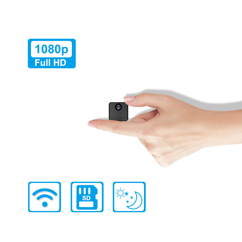 Mini IP Camera WIFI 1080P Invisible Night Version Battery Work 12 Hours Video Recording App Control