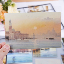 30 hojas tu ciudad pinturas Retro Vintage postal navidad regalo tarjeta deseo póster tarjetas #326