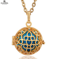 Small Lovely Heart Eduora Harmony Ball Fit 20mm Mexican Bola Gold Color DIY Floating Locket Cage