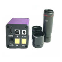 16MP HDMI digital video microscope USB camera with 0.5X C-Mount lens +30.5mm 30mm adapter ring for binocular /Trinocular