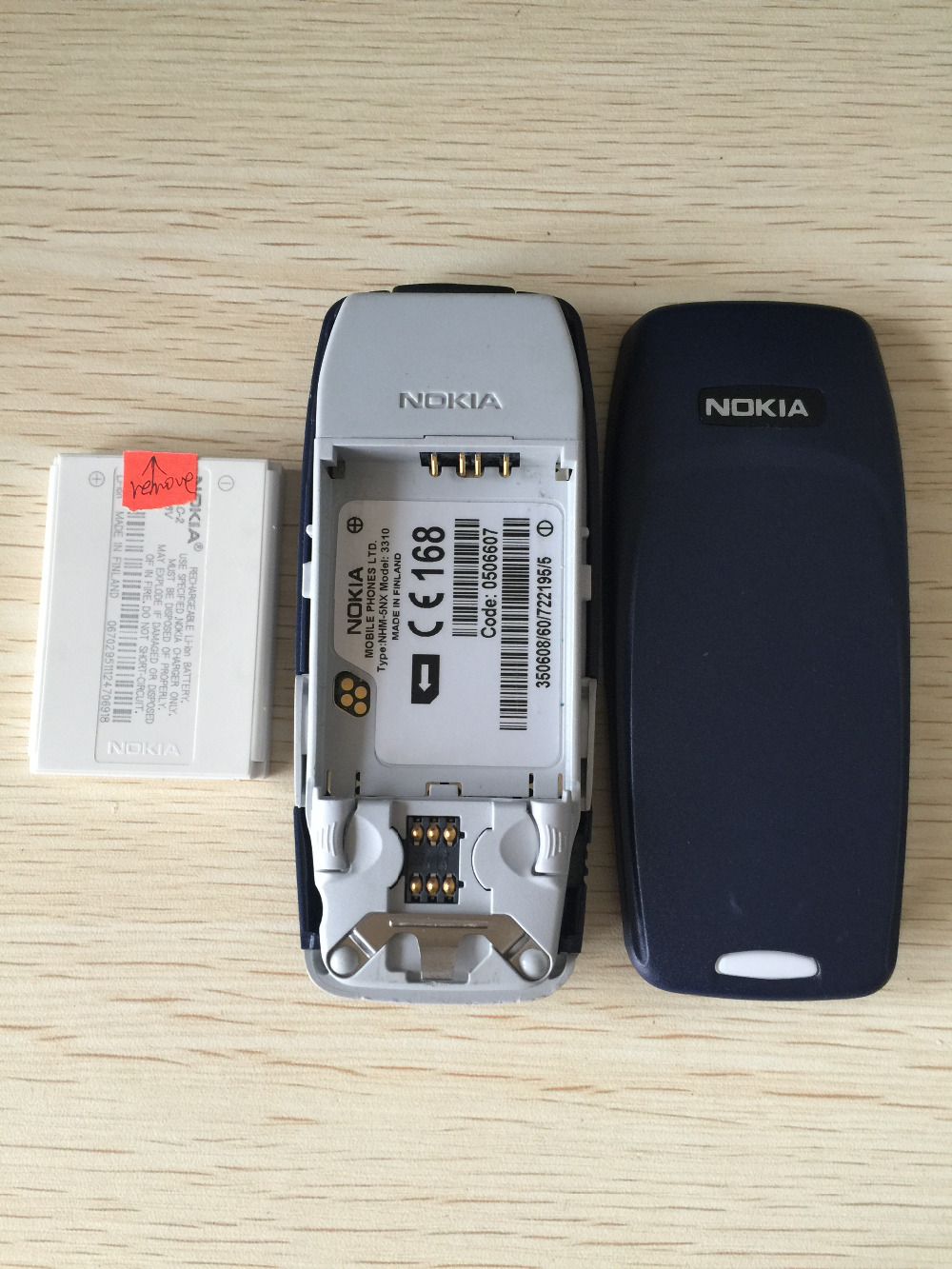 Refurbished phone Nokia 3310 cheap phone unlocked GSM 900/1800 with multi language dark blue 7