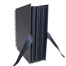 31.5x21 cm 40 Pcs / 80 pagine Scrapbook di carta nera libro degli ospiti di nozze Album fotografico di Scrapbooking di memoria di viaggio di anniversario fai da te