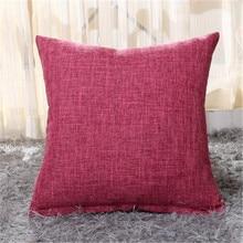Оранжевая Толстая льняная Подарочная Наволочка на подушку 45*45 см Новое сиденье стул машина хлопковый текстиль с принтом наволочка
