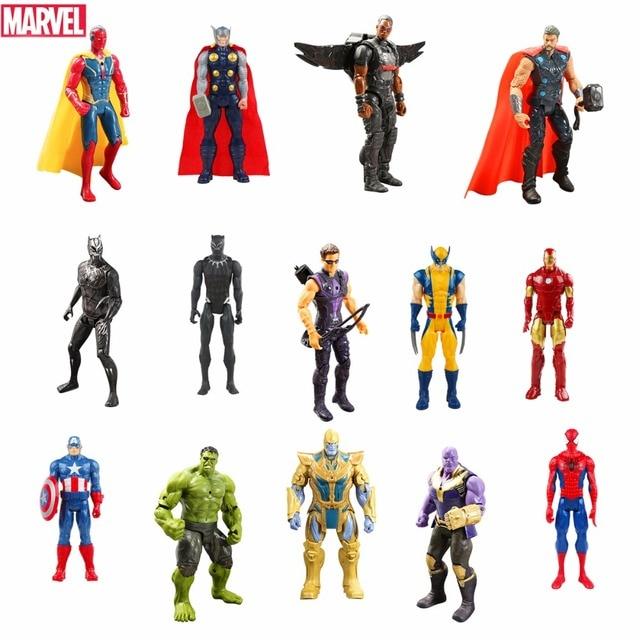 24 pçs/set Hasbro Marvel Action Figure Toys Hulk Capitão América Homem De Ferro Vingador Spiderman Super Hero Modelo Boneca Presente Das Crianças