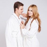 Cotton Towel Thick Warm Bathrobes Luxury Couples Women Men Long Quilted Bathrobe For Bridesmaids Adult Bath Clothes