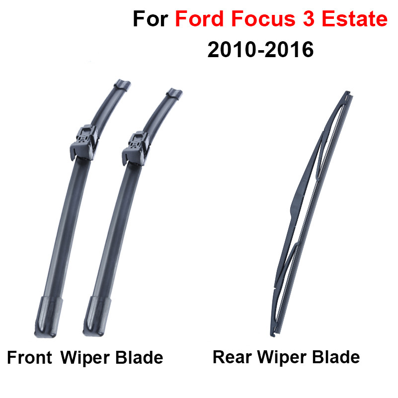 Windscreen Replacement Price List >> QEEPEI Combo Silicone Rubber Front & Rear Wiper Blades For Ford Focus 3 2010 2016 Windscreen ...