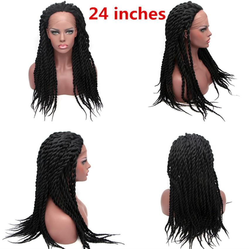 Image 5 - Feibin Синтетические волосы на кружеве оплетки парик для черных Для женщин высокое Температура волокна для наращивания на всю голову, в ассортименте черный, белый парик 14, 16, 18, 20, 24 дюйма c33-in Синтетические парики без сеточки from Пряди и парики для волос on AliExpress