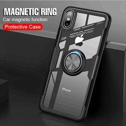 На Алиэкспресс купить чехол для смартфона kisscase transparent shockproof case for iphone 11 magnetic ring holder case for iphone 7 cover 8 xs xsmax 6 6s 11pro max fundas