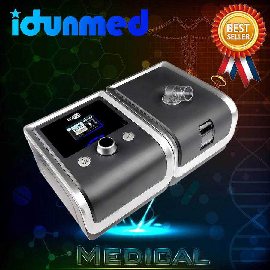 Máquina de CPAP BMC Com Aparelho de Respiração Nasal de Viagem Travesseiro Máscara de Filtro Da Mangueira de Cartão SD Para O Tratamento da Apnéia Do Sono Anti Ronco