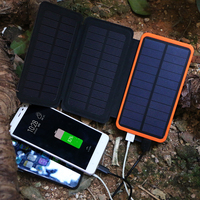 3 6W Solar Mobile Phone Charger 2 USB 10000mAh Solar Phone Charger For IPhone 5 5s