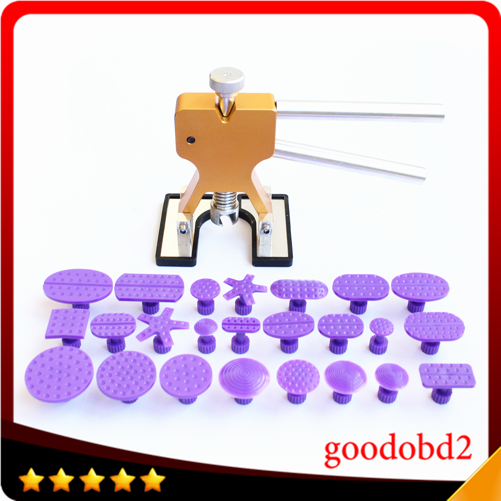 24pcs Auto Body Paintless Dent Removal Repair Tool Kits Glue Puller Smile Dent Lifter with Pro Glue Puller Tabs for Audi VW car