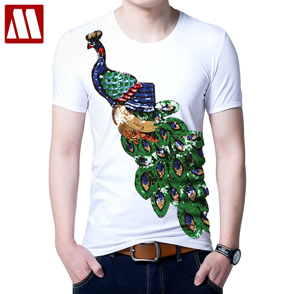 5cdcf0def Buy peacock tee shirt and get free shipping on AliExpress.com