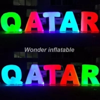 Customized giant inflatable letters with led lights inflatable alphabet love letter for wedding