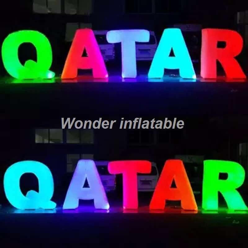Customized giant inflatable letters with led lights inflatable alphabet love letter for weddingCustomized giant inflatable letters with led lights inflatable alphabet love letter for wedding
