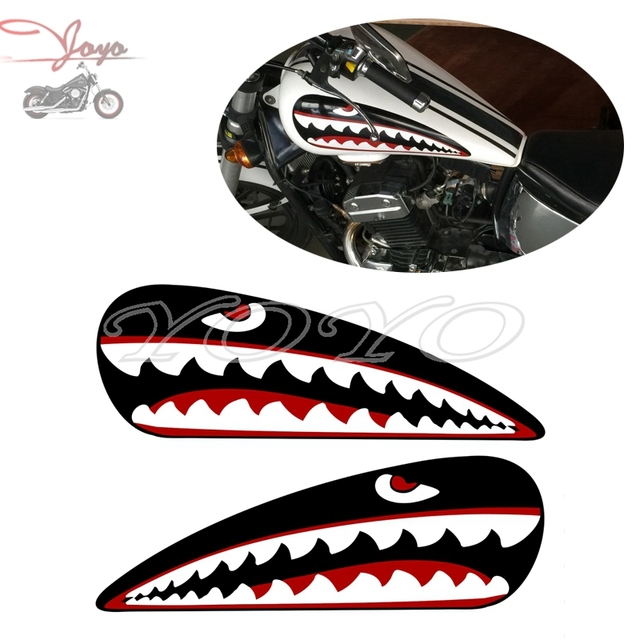 Motorcycle shark stickers fuel tank decals sticker for earth king eagle dd350e 6c