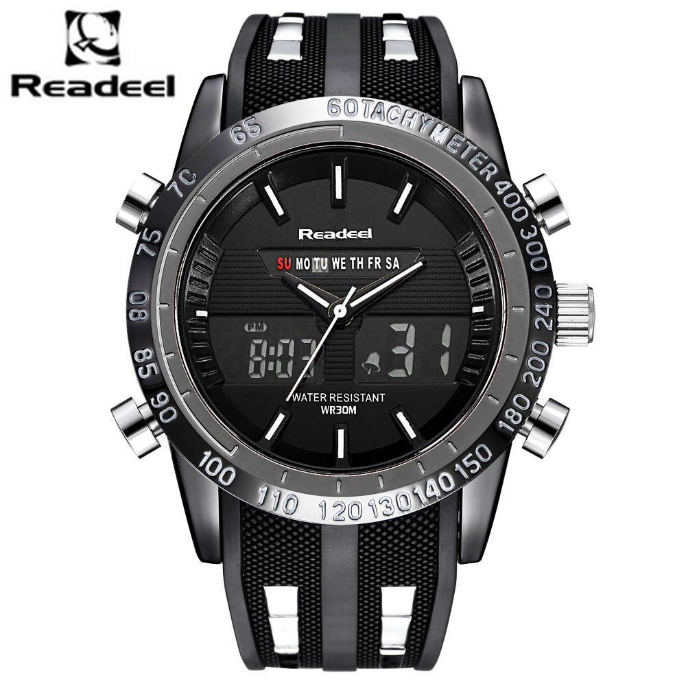 Men Watches Top Brand Luxury Men Military Wrist Watches Rubber Led Digital Quartz Men Sport