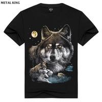3D T Shirt Women Men Cotton Tops Tee Wolf Skull Printed Swag Short Sleeve T Shirt